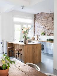 Interior In Kitchen Kitchen With Exposed Brick Wall Kitchen Blog Pinterest
