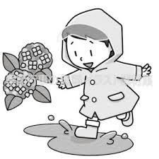 雨合羽を着た子供のイラスト 季節行事の無料イラスト素材集