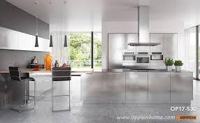 modern clean lines stainless steel kitchen cabinet op17s30 steel kitchen cabinets t85