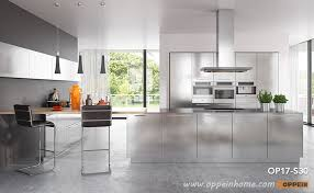 modern clean lines stainless steel kitchen cabinet op17 s30