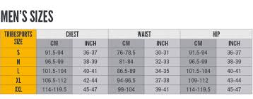 Chest Size Shirt Chart Tribesports Size Guide