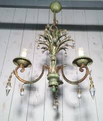 crystal painted metal chandelier from maison bagues
