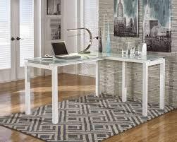 glass home office desks. #Home #Office #Desk Computer #Furniture Desks White Corner Frosted Glass Home Office