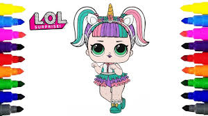 Lol Surprise Doll Unicorn Coloring Pages For Kids Youtube Coloring