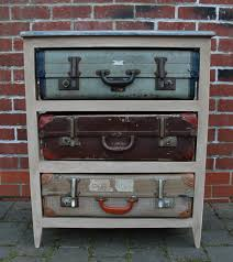 Creative Idea:Tall Chest Brown Vintage Suitcase Drawer Small Brown Vintage Suitcase  Drawer Design Near