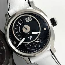 L Jr Day And Date Black Dial With White Strap Swiss Made S1302 S6 Men Brand New Catawiki