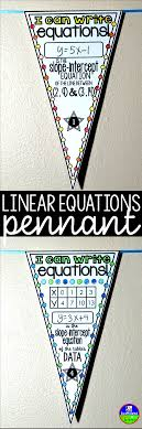 30 pennants for writing linear equations in slope intercept form 1 write