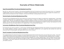 my vision statement sample