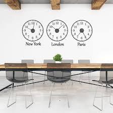 time zone wall sticker clocks wall
