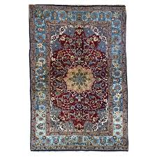 persian rugs are handmade rugs with knots tied around the warp threads on a horizontal or vertical loom these handmade rugs are made from silk cotton