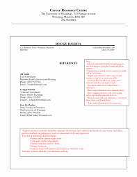 Reference Page Format For Resume Examples References Job Template