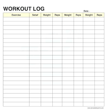 weight training log book exercise log template record exercise resistance and repetitions on