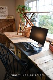 make your own office desk. Office Worktop. Pallet Wood Projects Desk Via Funky Junk Interiors Worktop Make Your Own U