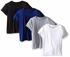 Hanes Boys T Shirt Size Chart Details About 4 Hanes Boys Tops X Temp Tagless Crew T Shirts Undershirts Assorted Colors Size