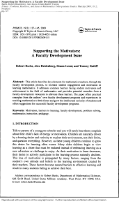 PDF) Supporting the Motivators: A Faculty Development Issue