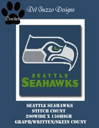 Small Picture Seattle Seahawks Crochet Pattern Afghan Graph 500 Pattern
