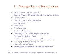 11 Diamagnetism And Paramagnetism
