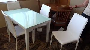 Ashley Furniture Kitchen Table Ashley Furniture Baraga White Dining Table Set D410 Review Youtube