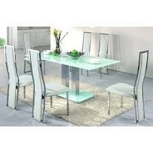 ice dining table in frosted glass with 4 dining chairs white home white dining table sets