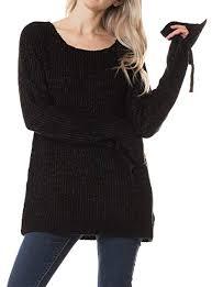 Daisy Del Sol Warm <b>Soft Knit</b> Winter Holiday Scoop Neck <b>Ribbon</b> ...
