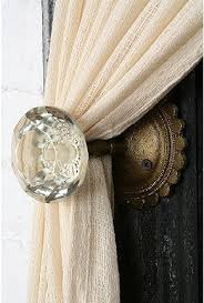 antique door knobs ideas. Great Idea For A Curtain Tieback! Glass Door KnobsOld Antique Knobs Ideas