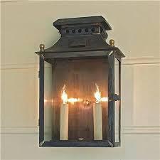 robus led outdoor half lantern wall light with pir sensor lights design rustic indoor barn exterior