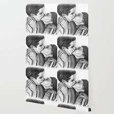 Cinema Kiss Blackwhite Love Art Illustration Romance Lovers Relationship Couple Drawing Kiss Wallpaper