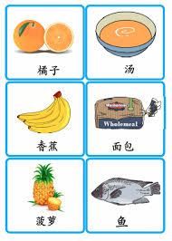 Food Flash Cards Food Flashcards Creative Chinese