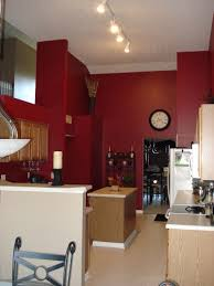 red kitchen wall colors. Red Kitchen Walls With Medium Brown Cabinets | ??, 16ft Vaulted Ceilingsnatural Wood Wall Colors