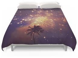palm tree fireworks duvet cover queen