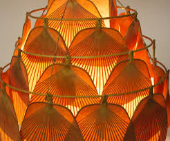 rare large uchiwa fan chandelier by ingo maurer
