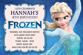 elsa birthday invitations frozen elsa birthday card awesome elsa birthday invitations