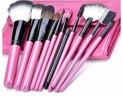 zeagoo 11 pcs cosmetic makeup brush set tools make up make up with pink case