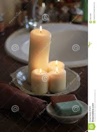 Candles In The Bathroom Stock Photo Image - Candles for bathroom