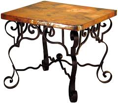 mexican copper inlaid libby end table