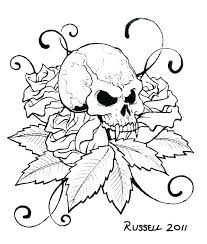 Sugar Skull Template Printable Coloring Pages Of Skulls Stencils