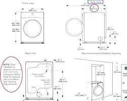 width of stackable washer dryer washer dryer closet dimensions laundry closet 2 unit stacked washer dryer
