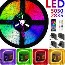 Dây Đèn Bluetooth RGB 5050 SMD 2835 Đèn Chống Thấm Nước Dẻo Diode Luces LED  Neon 5M 10M DC12V Cho Trang Trí Phòng WIFI / đèn LED chiếu sáng