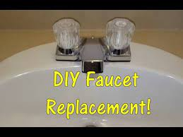 replace a bathroom sink faucet