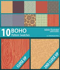 Illustrator Pattern Swatches Magnificent 48 Boho Illustrator Pattern Swatches By DoucetteDesigns GraphicRiver