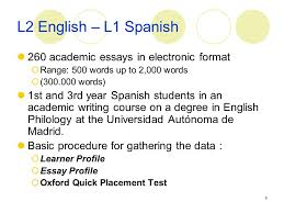 essays in spanish word order in second language acquisition corpora ppt