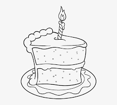 Drawing Birthday Cake Png Birthday Cake Slice Drawing 700x858
