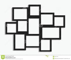 multiple picture frames. Black Multiple Frames With Different Sizes On White Wall Picture L
