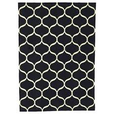 black and white area rug ikea stockholm flatwoven easy to vacuum thanks its flat surface geometric striped polka dot zigzag chevron fasterholt handwoven by