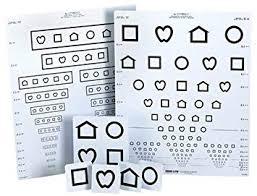 Amazon Com Lea Symbols 15 Line Distance Eye Chart By Lea