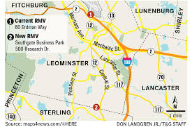 leominster branch of rmv shifts to new home on monday news telegram worcester ma
