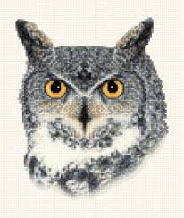 Owl Cross Stitch Pattern Amazing Great Horned Owl Cross Stitch Pattern Owl