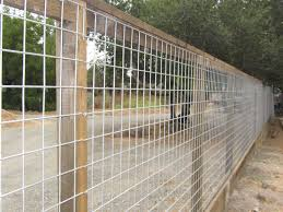 welded wire fence panels. Brilliant Fence 4x4 Hog Panel Mesh On Posts And Kickboard By Arbor Fence Inc Throughout Welded Wire Fence Panels S