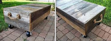 diy factory cart style coffee table made for less than 100