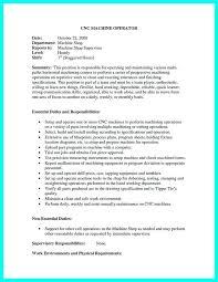 Resume For Cnc Machinist Resume For Cnc Machinist Machinist Samples